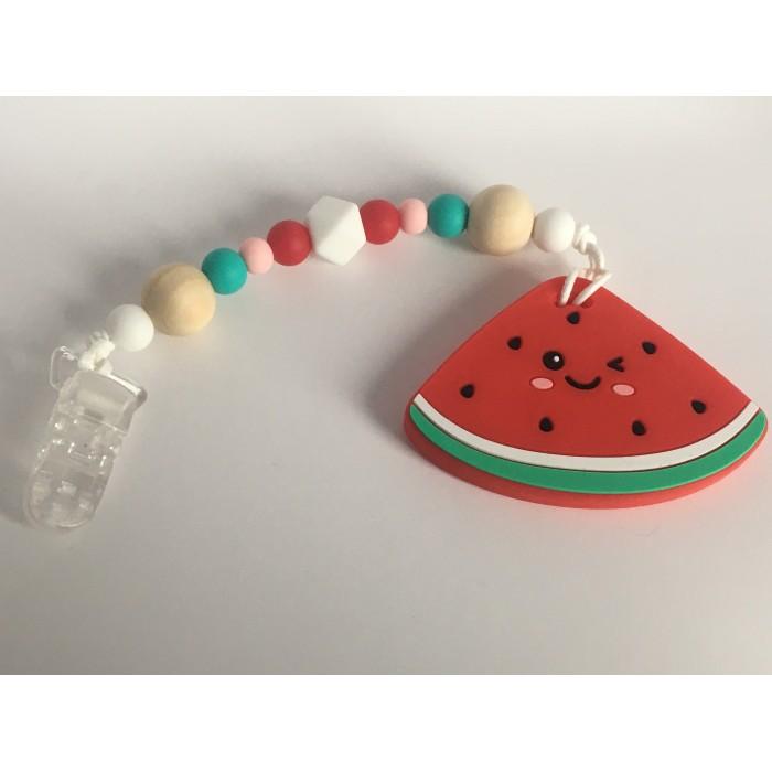 Jouets de Dentition / attache suce melon d'eau
