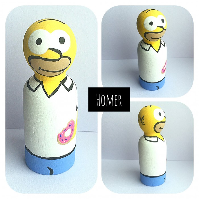 Poupée de bois / Homer simpson