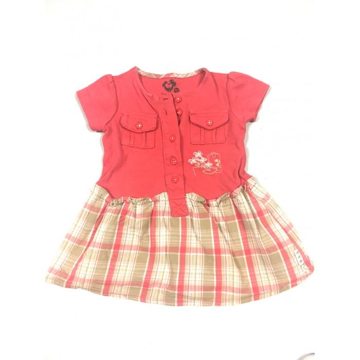 robe carreaux / 9 mois