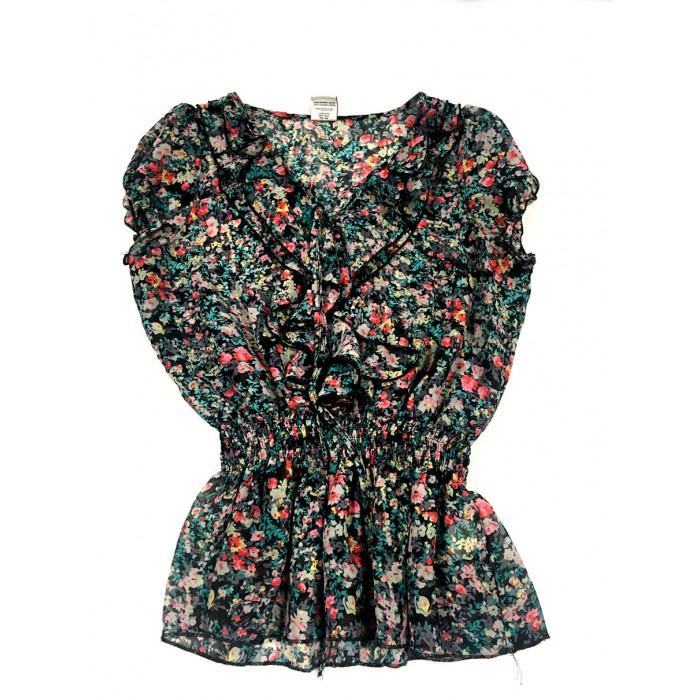 chandail blouse fleuris / 10-12 ans