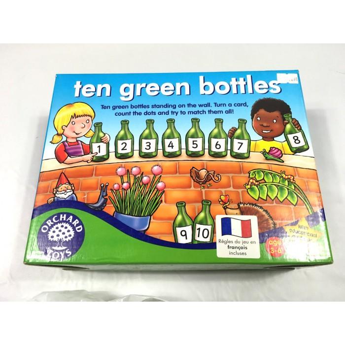 Dix bouteilles vertes