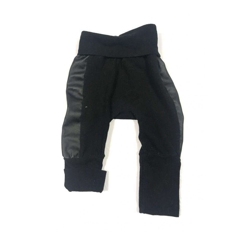 pantalon évolutif coton vanille / 0-12 mois