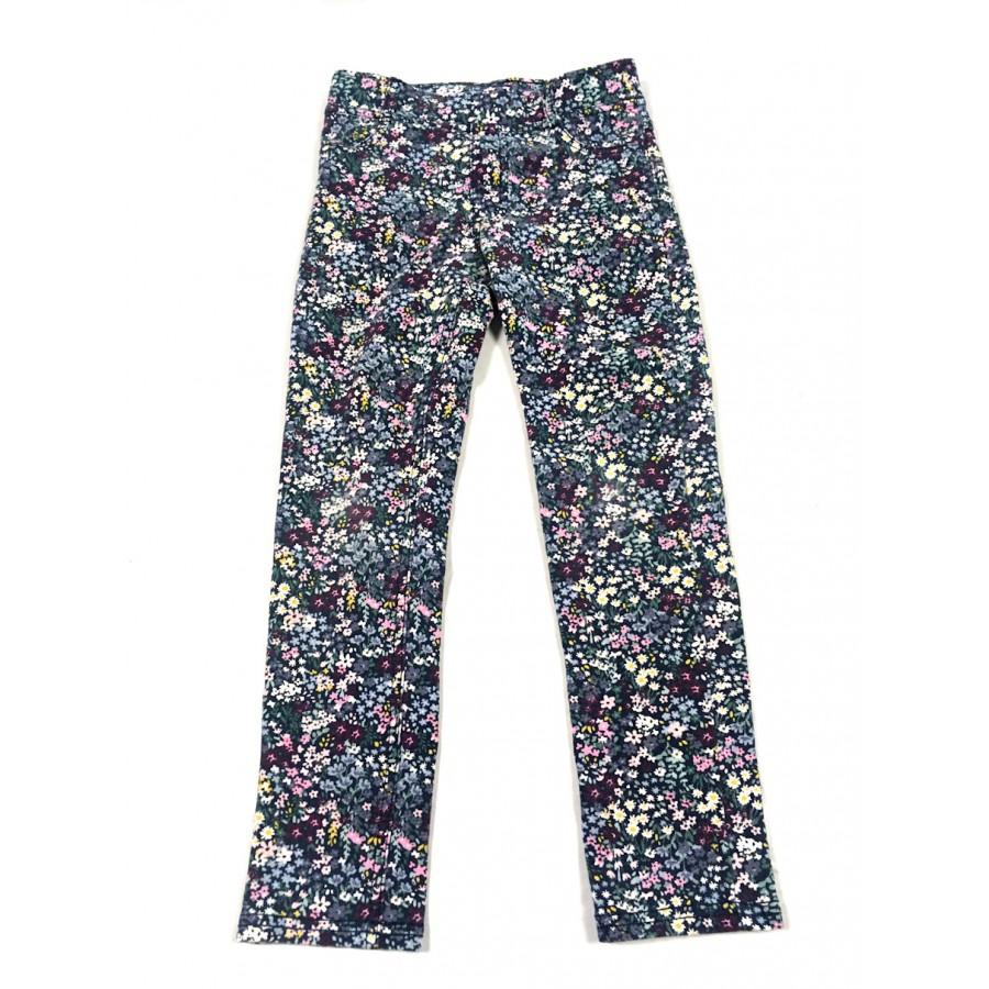pantalon mou fleuris / 6-7 ans