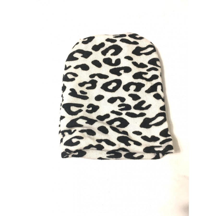 bonnet long leopard / 0-3 mois