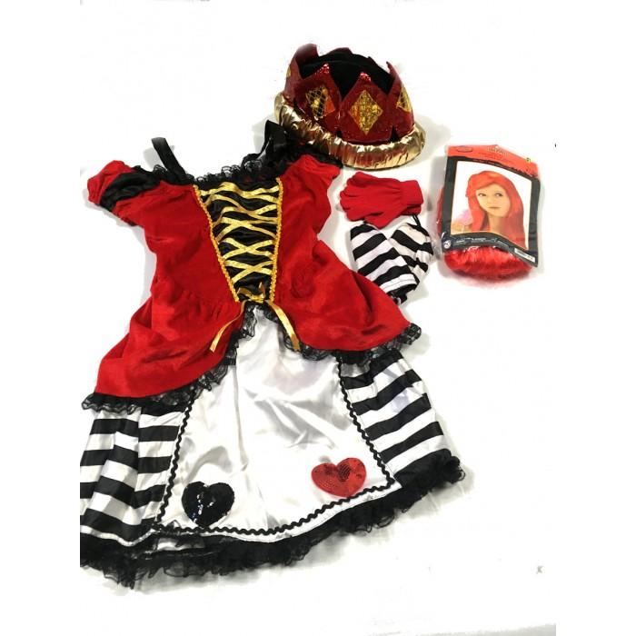 costume reine rouge de coeur / 6-8 ans