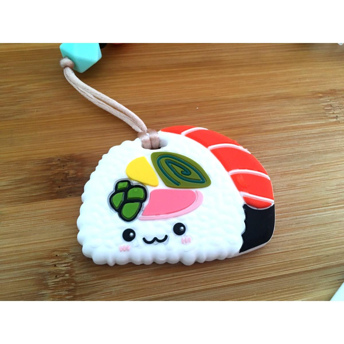 Jouets de Dentition / attache suce Sushi rouge