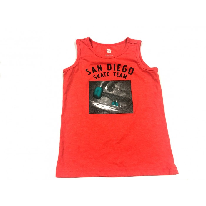 camisole rouge skate / 7 ans