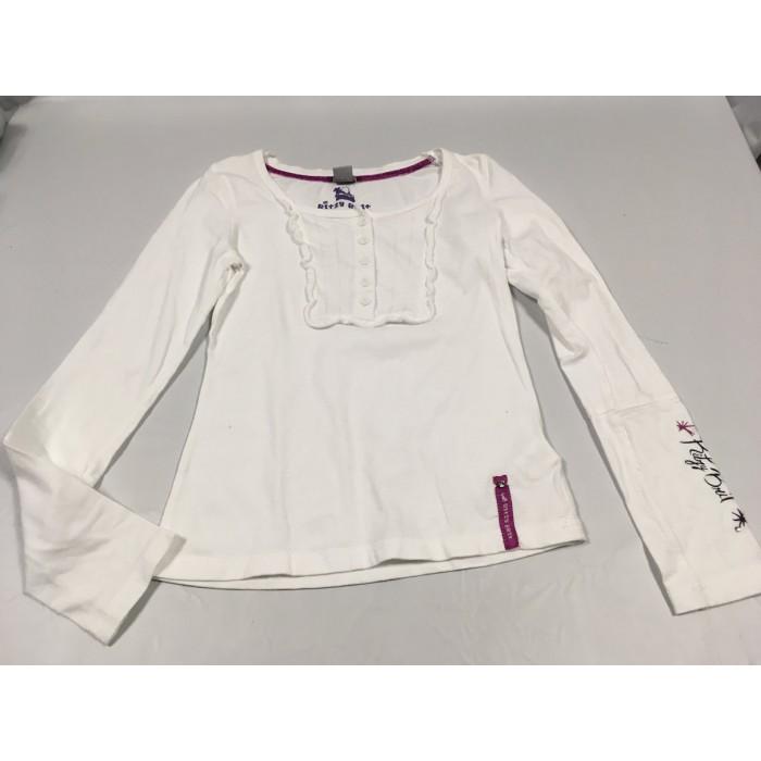 chandail blanc / 8-10 ans