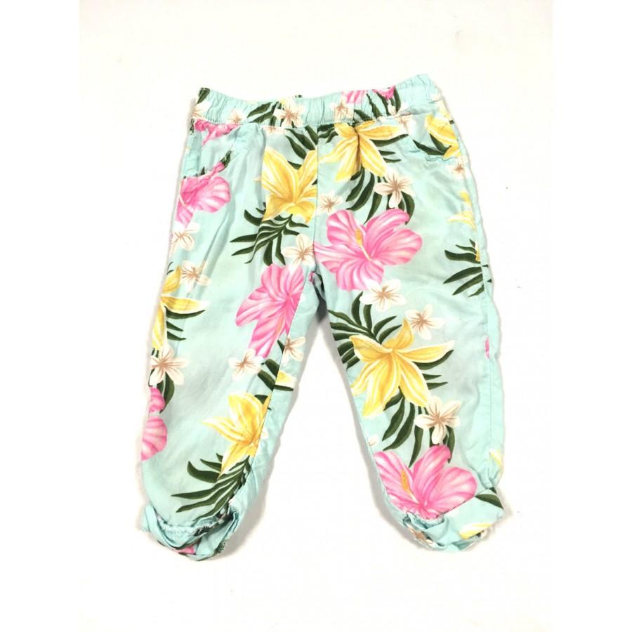 pantalon fleuris / 6 mois