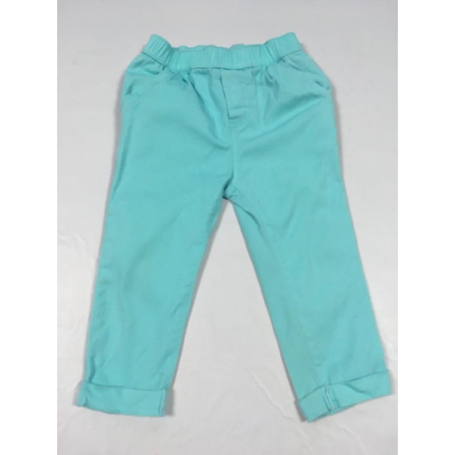 pantalon turquoise / 24 mois
