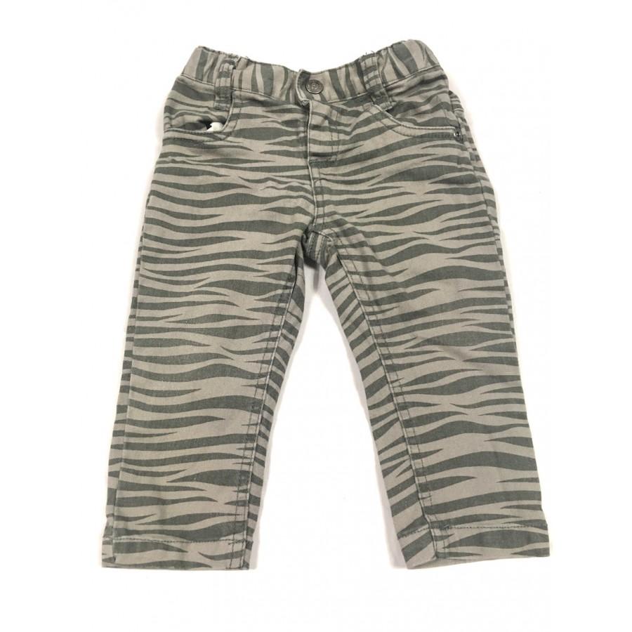 jeans zèbre / 12 mois
