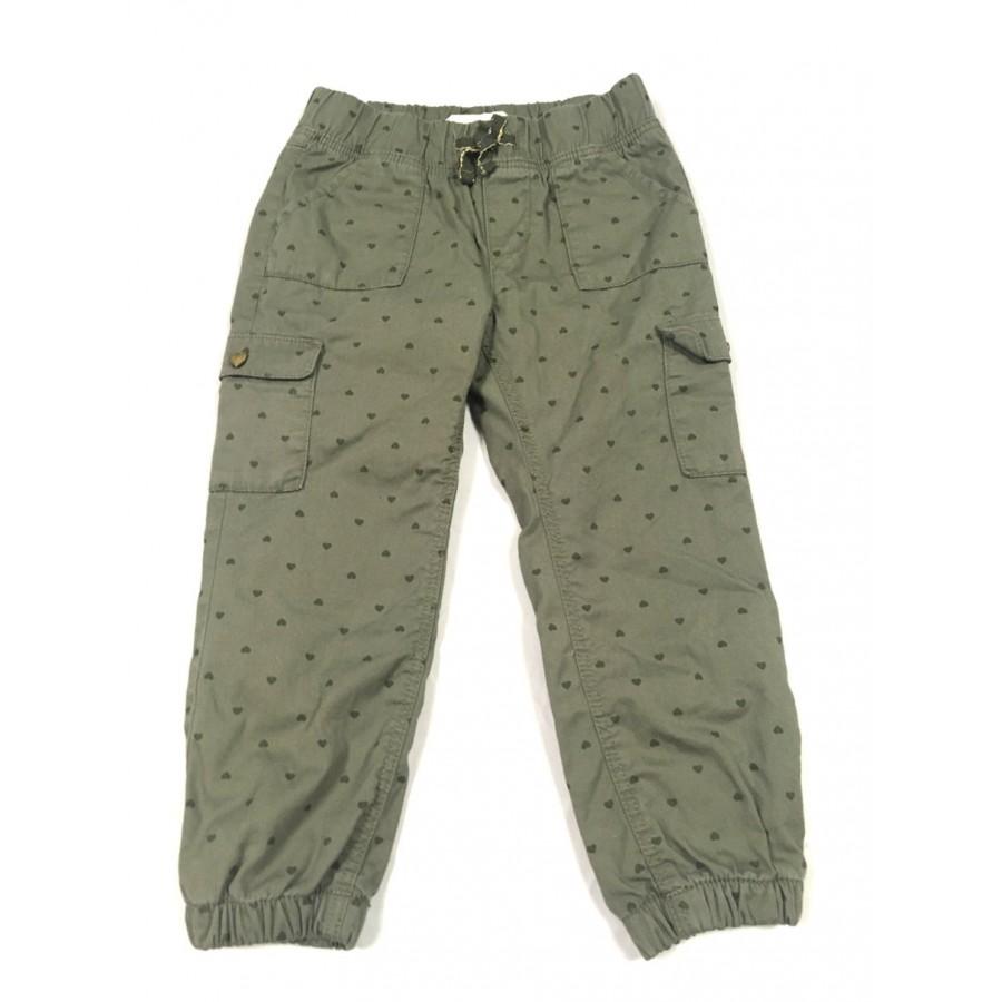 pantalon doublé kaki / 2-3 ans
