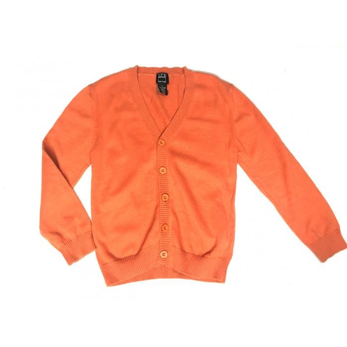 cardigan orange / 6 ans