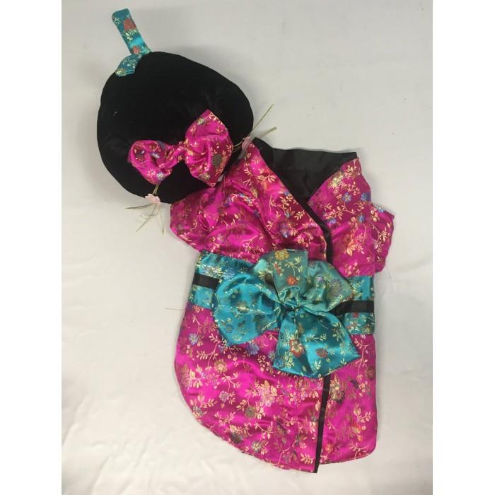 costume chien geisha / small