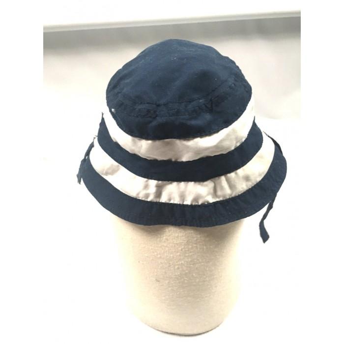 chapeau ligné réversible / 3-6 mois