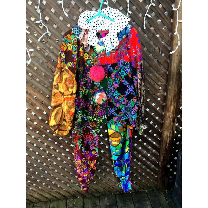 costume clown patchwork / medium large