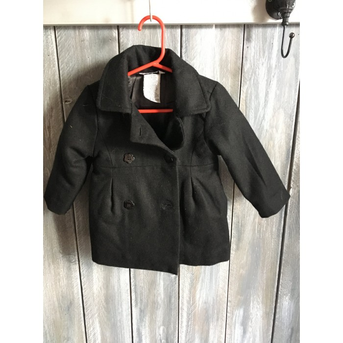 manteau canadienne noir / 18 mois
