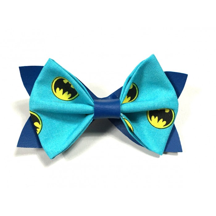 Noeud Papillon batman logo bleu bleu enfants