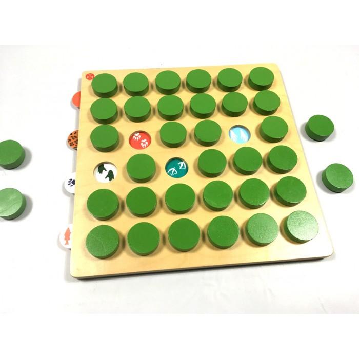 Jeux de mémoire en bois fiches interchangable