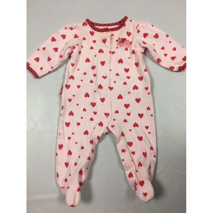 pyjama coeur / 3-6 mois