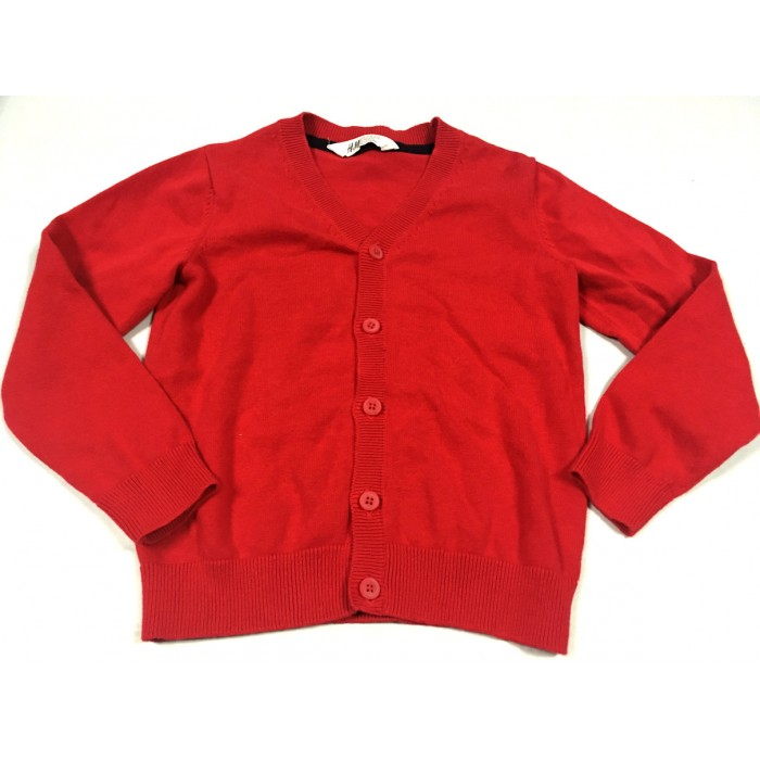 cardigan rouge / 6-8 ans