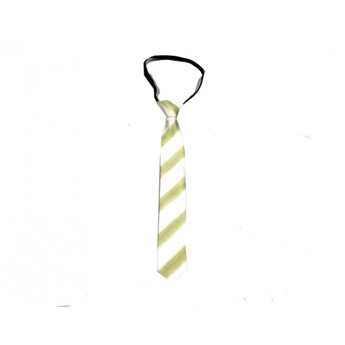 cravate ligné vert / ajustable