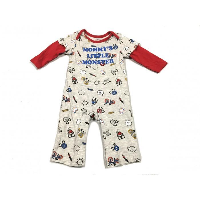 pyjama little monster / 6-12 mois