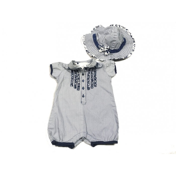 barboteuse chemise / 6 mois