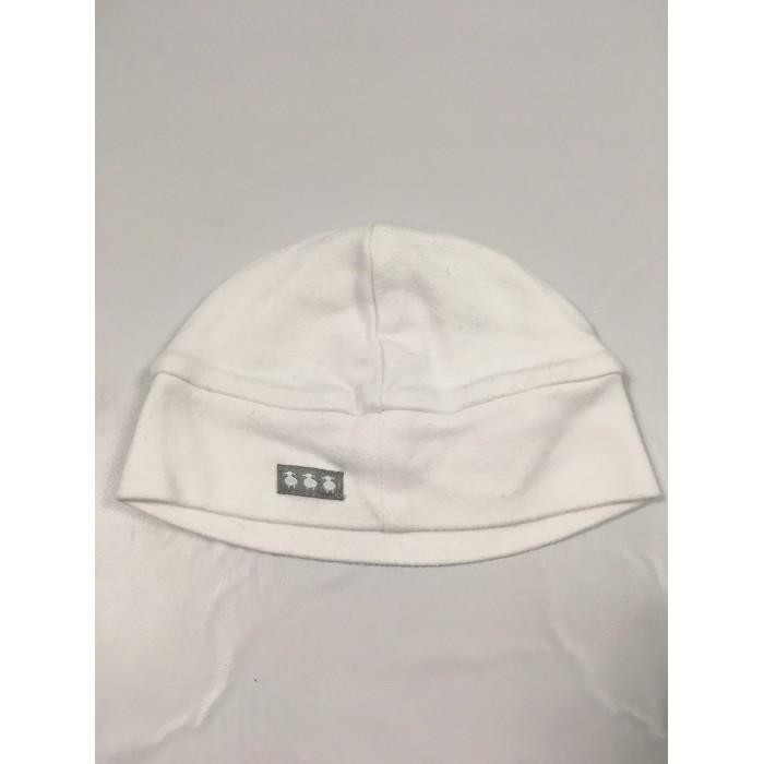 bonnet blanc / 0-3 mois